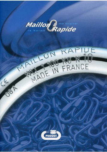 Catalogue Maillon Rapide Péguet 2009