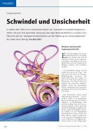 Schwindel und Unsicherheit - Österreichische Ärztezeitung