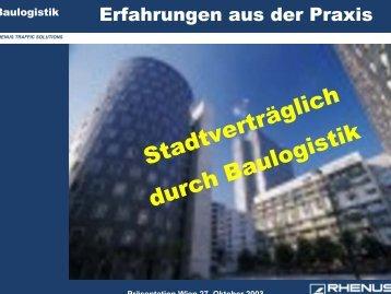 Stadtverträglich durch Baulogistik