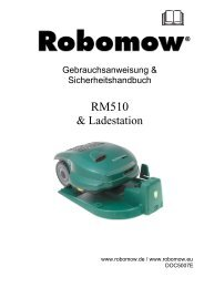 Bedienungsanleitung - Robomow RM510 - myRobotcenter