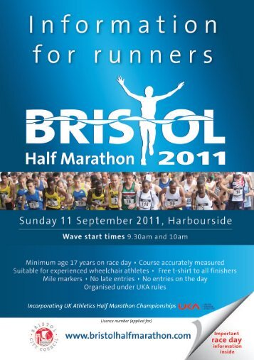 race day information - Bristol Half Marathon