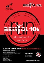 Download the Race Information Booklet - Bristol Half Marathon