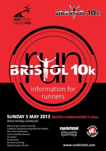 Download the Race Information Booklet - Bristol Half Marathon