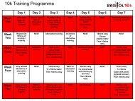10k Training Programme