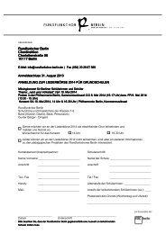 Anmeldeformular Liederbörse 2014 - Rundfunkchor Berlin