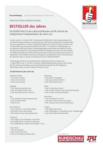 BESTSELLER des Jahres - RUNDSCHAU für den Lebensmittelhandel