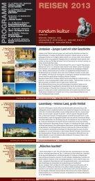 Unser aktuelles Reisen als PDF - Rundum Kultur