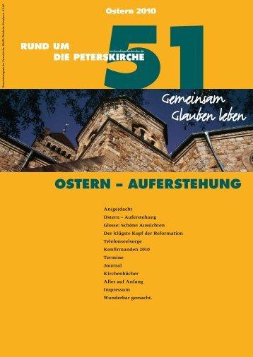 Ausgabe Nr. 51 - Gemeinde an der Peterskirche