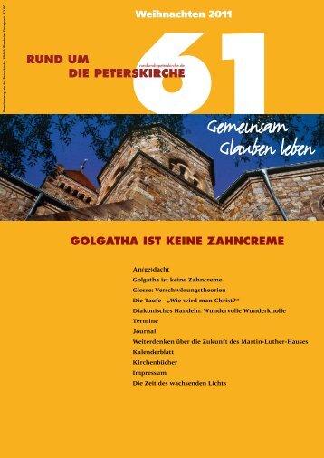 Ausgabe Nr. 61 - Gemeinde an der Peterskirche