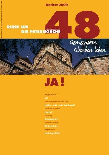 Ausgabe Nr. 48 - Herbst 2009 - Gemeinde an der Peterskirche
