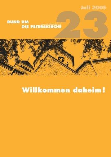 Willkommen daheim ! - Evangelische Gemeinde an der Peterskirche ...