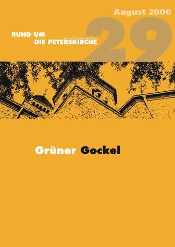 Grüner Gockel - Gemeinde an der Peterskirche