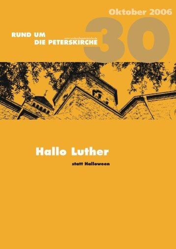 Hallo Luther - Gemeinde an der Peterskirche