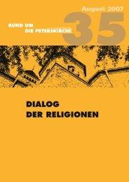 DIALOG DER RELIGIONEN - Gemeinde an der Peterskirche