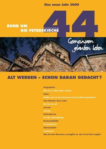 Ausgabe Nr. 44 - Evangelische Gemeinde an der Peterskirche ...
