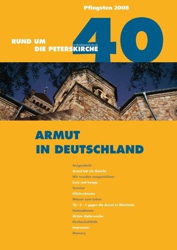 armut in deutschland - Evangelische Gemeinde an der Peterskirche ...