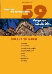 Ausgabe Nr. 59 - Evangelische Gemeinde an der Peterskirche ...