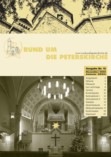 An(ge) - Evangelische Gemeinde an der Peterskirche, Weinheim