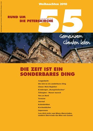 Ausgabe Nr. 55 - RUNDUMDIEPETERSKIRCHE.de