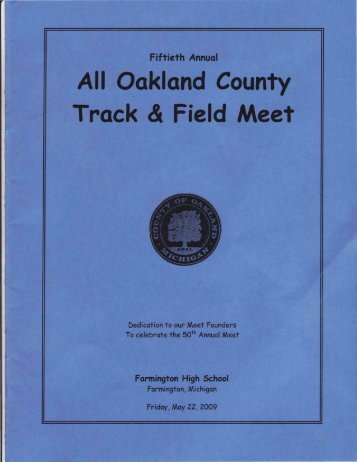 All Oakland County Track & Field Meet - RunMichigan.com