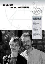 An(ge)dacht 2 Editorial 3 Wilhelm Kirchner 3 ... - Peterskirche