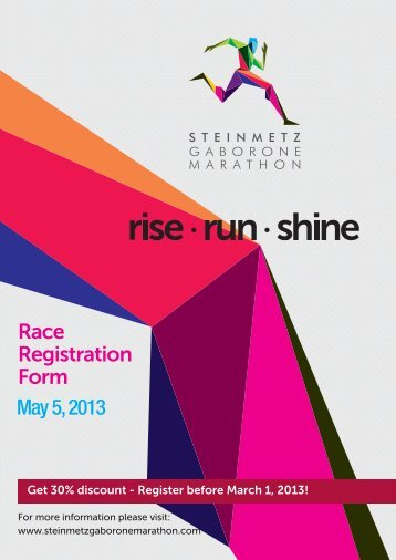 May 5, 2013 - Runners' Guide to Road Races in South Africa