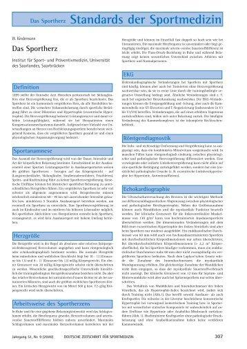 Das Sportherz Standards der Sportmedizin - Deutsche Zeitschrift für ...