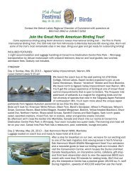 Join the Great North American Birding Tour! - Detroit Lakes