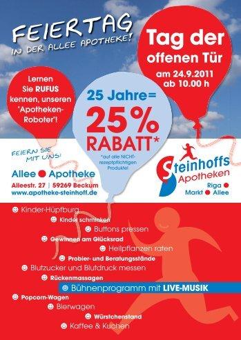 Feiertag - Steinhoffs Apotheken