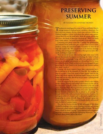 PrESErvING SummEr - Edible Communities