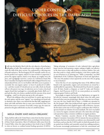 udder confusion - Edible Communities