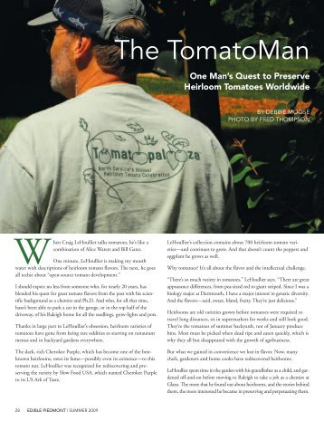 the tomato man - Edible Communities