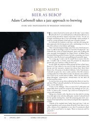 BEER AS BEBOP Adam Carbonell takes a jazz approach to brewing