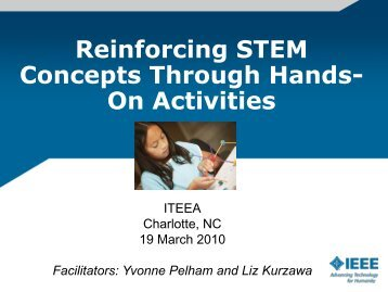 Reinforcing STEM Concepts Through Hands- On Activities