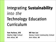 Integrating Sustainability Into the Technology Education Curriculum
