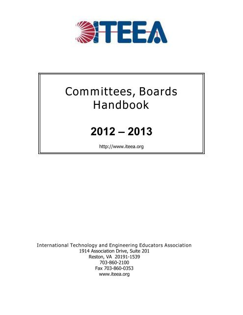 Committees and Boards Handbook - International Technology and ...