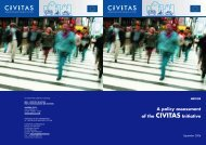 A policy assessment of the CIVITAS Initiative - Rupprecht Consult