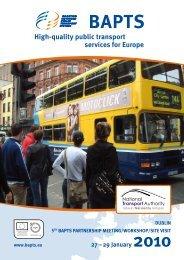 BAPTS Report Dublin - Rupprecht Consult