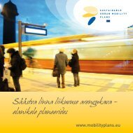 Säästva linna liikuvuse arengukava - Rupprecht Consult