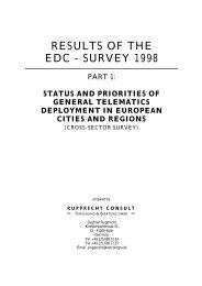 Results of EDC Survey Part 1 - Rupprecht Consult