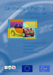TOSCA Take-Up Guide: Car-Sharing in practice - Rupprecht Consult