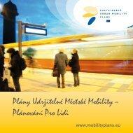 Plány Udržitelné Městské Mobility - Rupprecht Consult