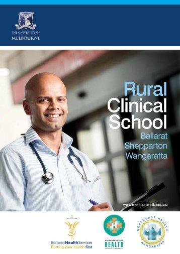 Rural Clinical School - School of Rural Health - University of ...