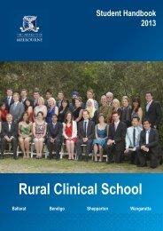 MD RCS Student Handbook - School of Rural Health - University of ...