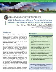 Developing a VA/Clergy Partnership to Increase Access to Mental ...