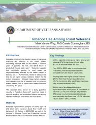 Tobacco Use Among Rural Veterans - VHA Office of Rural Health