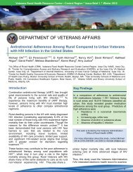 Antiretroviral Adherence Among Rural Compared to Urban Veterans ...