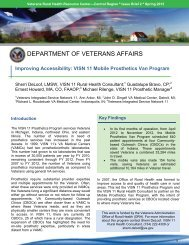 Improving Accessibility - VHA Office of Rural Health