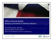 Veterans - VHA Office of Rural Health