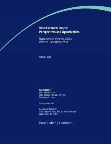 Veterans Rural Health: Perspectives and Opportunities